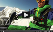 Video of the Day: 800 ft Snowmobile BASE Jump